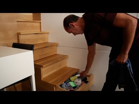 Brilliant small apt fits everything - Tiny, Eclectic, Amazing Spaces video