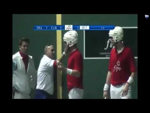 Mondial Pelote Basque Mexique 2014 - Finale Pala Corta - France contre Cuba