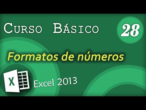 Formatos de números | Excel 2013 Curso Básico #28