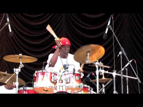 Flavor Flav introduces his kids & plays drums, Central Park Summerstage, NYC 8-15-10