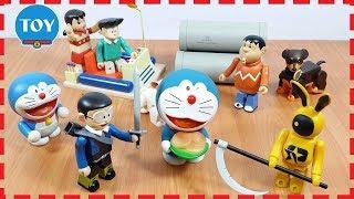 Doremon và Nobita biến hình hiệp sĩ bắt yêu quái tai thỏ bánh rán   đồ chơi