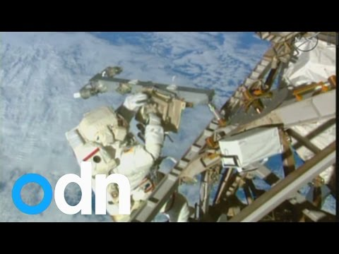 NASA astronauts venture outside the International Space Station for seven-hour spacewalk