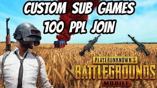 PUBG : Mobile Custom Server Sub Games