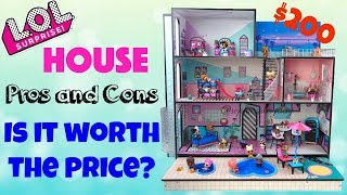 LOL Surprise Doll House Unboxing Pros and Cons, Is it worth the Price? Kids LOL Surprise Toys