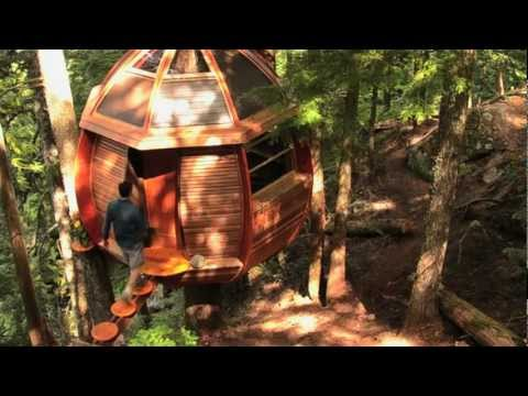 The HemLoft - a secret treehouse, hiding in the woods of Whistler