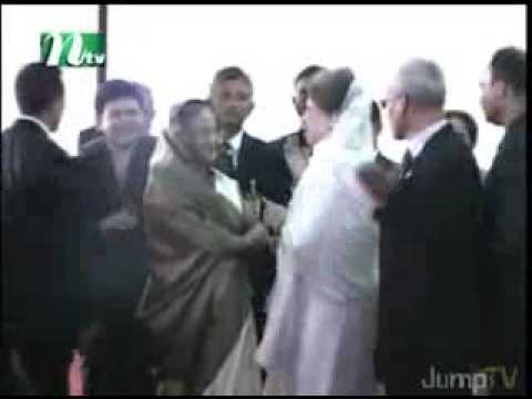 Khaleda Zia & Sheikh Hasina - Making Hi Hellow ...