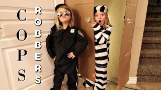 COPS AND ROBBERS IN A BOX FORT!