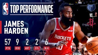 James Harden's EPIC 57 Point Performance | January 14, 2019