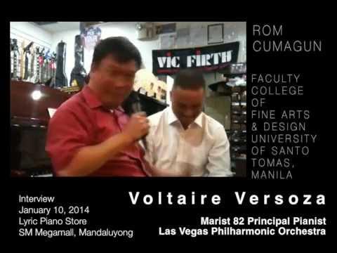 Voltaire Versoza: Principal Pianist Las Vegas Philharmonic Orchestra