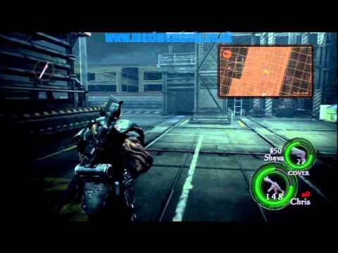 053 Wesker Boss Fight Hangar Chapter 6-3 Pt4/7 Bridge Deck Resident Evil 5 Walkthrough Veteran PS3