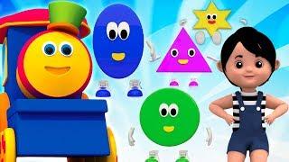 Hình Dạng | Video Giáo Dục Cho Trẻ Em | Bob Tàu | Bob Train And Shapes | Educational Video For Kids