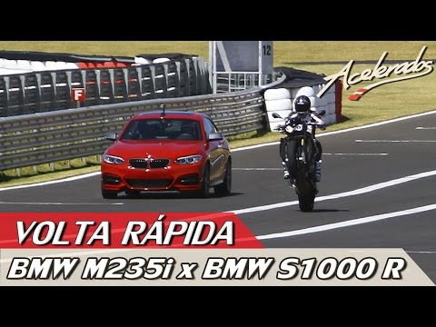 ACELERADOS - VOLTA RÁPIDA #5 - DESAFIO RUBENS BARRICHELLO X ALEX BARROS - BMW M235i X BMW S1000 R
