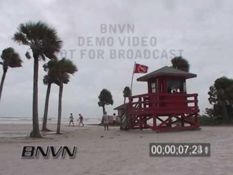 7/10/2005 Hurricane Dennis, Siesta Key Beach Florida Video
