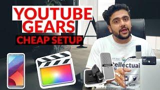 My Youtube Gear | Final Cut Pro Vs Premier Pro | Cheapest Mic Setup
