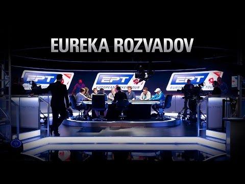 Finálový stůl živého pokerového turnaje Main Event Eureka 5 Rozvadov 2015 s odkrytými kartami