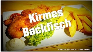 Backfisch im Bierteig - Wie von der Kirmes! Sau lecker!