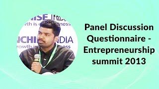 Panel Discussion Questionnaire -