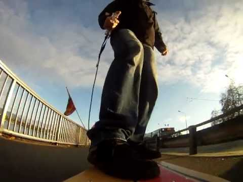 My first test of the goprohero cam riding my e-glide electric skateboard around the lake in Geneva