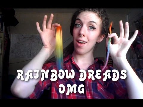 Rainbow Dreads!! (an alternative method for adding extensions)