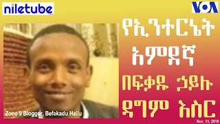 የዞን ዘጠኝ የኢንተርኔት አምደኛ በፍቃዱ ኃይሉ (Befekadu Hailu ) ዳግም እስር - VOA Amharic (Nov 11, 2016)