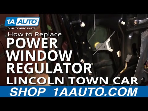 How To Replace Install Power Window Regulator Without Motor PART 1 Lincoln Town Car 98-02 1AAuto.com