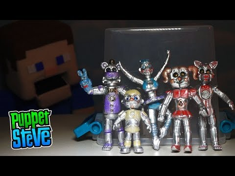 FNAF Five Nights at Freddys BOOTLEG Sister Location Chrome Figures Bibab TOY Fake Jumpscare
