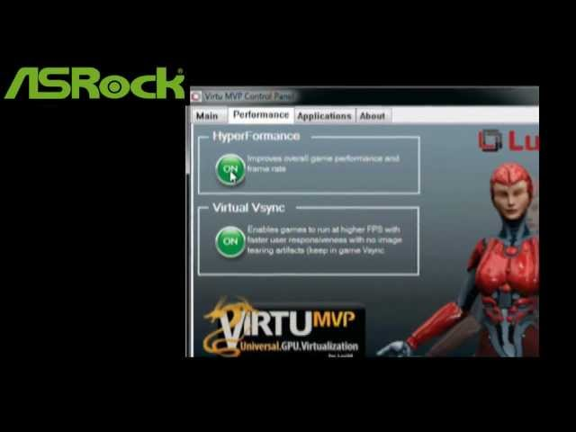 ASRock Virtu MVP - HyperFormance Demo