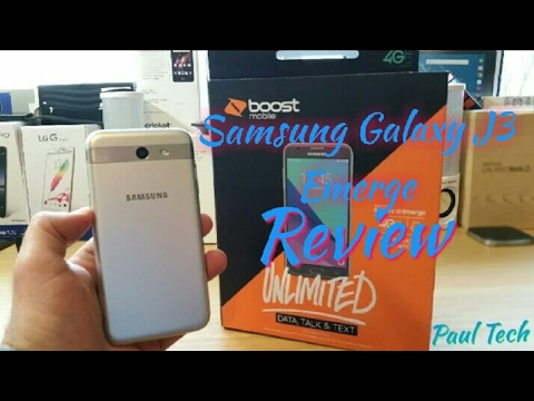 Samsung Galaxy J3 Emerge Full Review Boost Mobile
