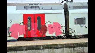 Graffiti in Belgian stations and on trains (1).wmv