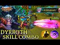 Dyrroth Skill Combo Gameplay   Mobile Legends Bang Bang