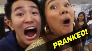 Scaring Youtubers at Bloggers United! (Prank HAHA)