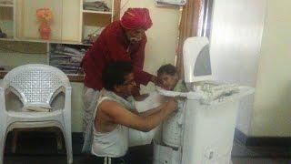洗濯機にすっぽりハマってしまった・・・・・。