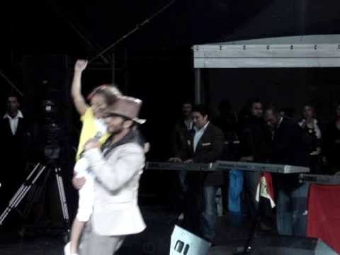 Tamer Hosny dance with a prety woman in Marrakesh