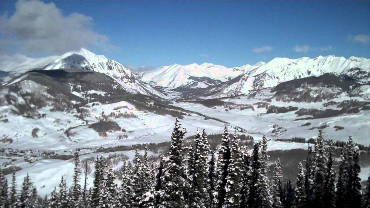 Black Diamond Ski Run Crested Butte Colorado Mp4 Youtube