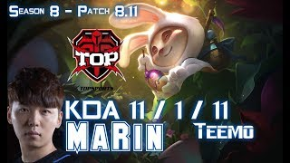 TOP MaRin TEEMO vs DR. MUNDO Top - Patch 8.11 KR Ranked