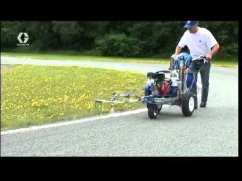 Maquina de pintar carreteras en dos componentes airless - Maquinas para pintar ...
