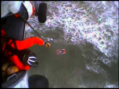 Coast Guard Hoists Teen from Surf off Sunset Beach, Oregon