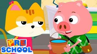 Джек и Джилл | развивающий мультфильм | потешки для малышей | детские песни