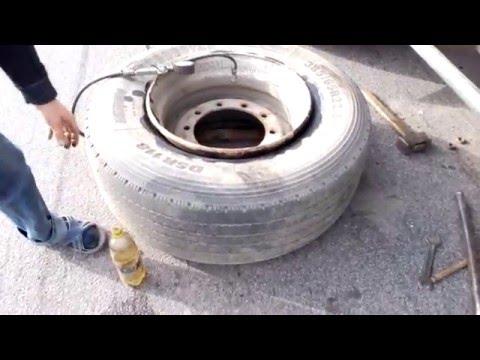 Как накачать колесо на фуре ДАЛЬНОБОЙ 5708 RENAULT MAGNUM