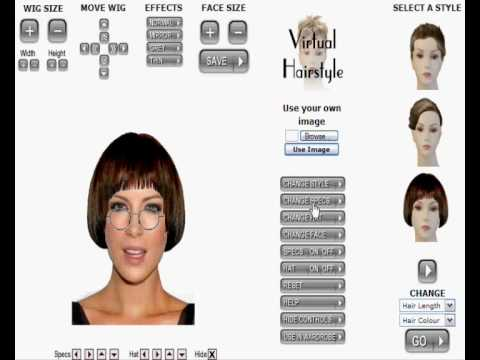 Virtual Hairstyle Gallery Basic instructions how to use some of the features