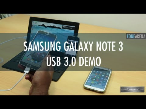 Samsung Galaxy Note 3 USB 3.0 Demo