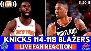 Knicks LOSE A Tough One! 🏀| Knicks vs. Blazers| Knicks Post Game Live Reaction and Fan Phone In