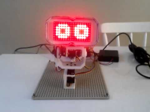 Robot facial expressions with Arduino, led matrix and MAX7219