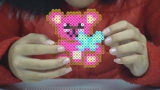 Gấu Teddy Bear - Đồ chơi hạt nhựa sáng tạo trẻ em - Perler Beads for Kids