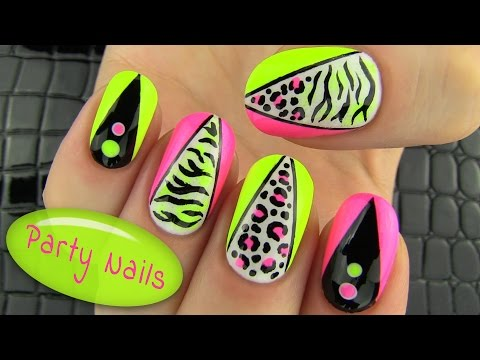 Party Nails! Nail Art Collab With Elleandish    Janelle video