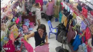 2 con đàn bà chuyên trộm cắp tại Shop - phần 2 ( cam 4 )