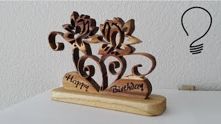 Scroll Saw Carnations Sculpture