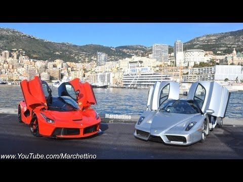 LaFerrari vs Ferrari Enzo Driving Fast in the Hills! klip izle