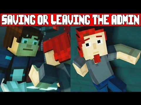 Saving or Abandoning The Admin/Romeo MINECRAFT STORY MODE SEASON 2 EPISODE 5 (Season Finale)