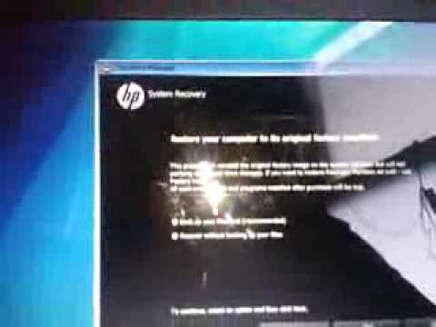How to restore HP laptop back to factory default
